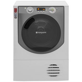 Hotpoint Aqualtis AQC9BF7E1 9Kg Condenser Tumble Dryer - White / Tungsten - B Rated Best Price, Cheapest Prices