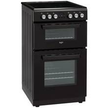 Bush DHBFEDC50B 50cm Double Oven Electric Cooker - Black Best Price, Cheapest Prices