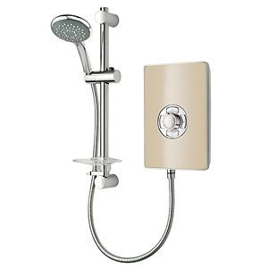 Triton Electric Shower - Riviera Sand 8.5kW Best Price, Cheapest Prices