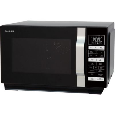 Sharp R860KM 25 Litre Combination Microwave Oven - Black Best Price, Cheapest Prices