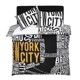 Argos Home NYC Word Map Bedding Set - Double Best Price, Cheapest Prices