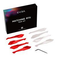 EVGA Red/White Trim Kit for EVGA GeForce RTX 20-Series FTW3 Tri Fan Graphics Cards, Inc. 4x Red Trims & 4x White Trims Best Price, Cheapest Prices