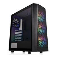 Thermaltake Versa J24 Mid Tower Chassis, Tempered Glass, ARGB, 4x 120mm Fans, USB 3.0, ATX/MicroATX/Mini-ITX Best Price, Cheapest Prices