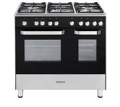 KENWOOD CK405 Dual Fuel Range Cooker - Black Best Price, Cheapest Prices