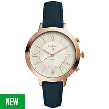 Fossil Ladies' Jacqueline Leather Strap Hybrid Smart Watch Best Price, Cheapest Prices