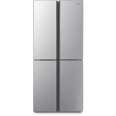 Fridgemaster MQ79394FFS American Fridge Freezer - Silver - A+ Rated Best Price, Cheapest Prices