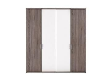 Melbourne 4 Door Hinged Wardrobe - Oak & White Best Price, Cheapest Prices