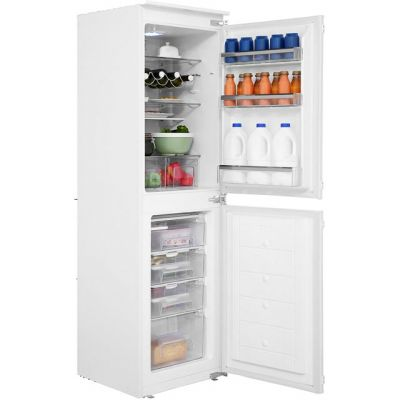 Amica BK296.3 Integrated 50/50 Fridge Freezer with Sliding Door Fixing Kit - White - A+ Rated Best Price, Cheapest Prices