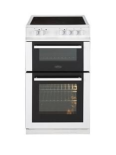 Belling FS50EDOC 50cm Double Oven Electric Ceramic Cooker with Optional Connection - White Best Price, Cheapest Prices