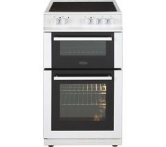 BELLING FS50EDOC 50 cm Electric Ceramic Cooker - White Best Price, Cheapest Prices