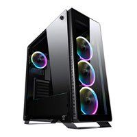 Sahara P35 Sync RGB Tempered Glass Mid Tower Chassis 4 x Pirate Turbo RGB Fan Black Best Price, Cheapest Prices