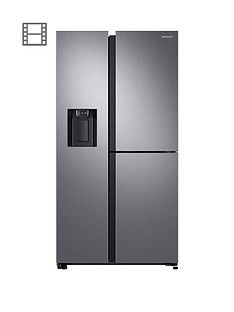 Samsung RS68N8670S9/EU French Door Frost Free Fridge Freezer with Plumbed Ice, Water Dispenser - Matt Silver Best Price, Cheapest Prices
