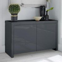 Puro Grey High Gloss TV Unit with Double Doors TV's up to 58