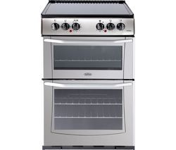 BELLING Enfield E552 55 cm Electric Ceramic Cooker - Silver & Black Best Price, Cheapest Prices