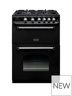 Rangemaster  CLAS60NGFBL Classic 60cm Wide Gas Cooker - Black Best Price, Cheapest Prices
