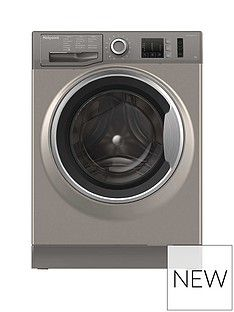 Hotpoint NM10844GS 8kg Load, 1400 Spin Washing Machine - Graphite Best Price, Cheapest Prices