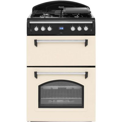 Leisure Gourmet GRB6GVC 60cm Gas Cooker with Full Width Gas Grill - Cream - A+/A Rated Best Price, Cheapest Prices