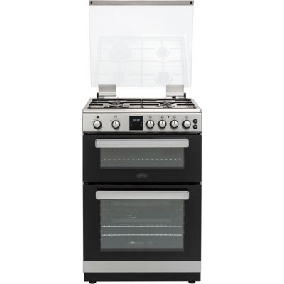 Belling FSG608TCW 60cm Gas Cooker with Variable Electric Grill - Stainless Steel - A+ Rated Best Price, Cheapest Prices