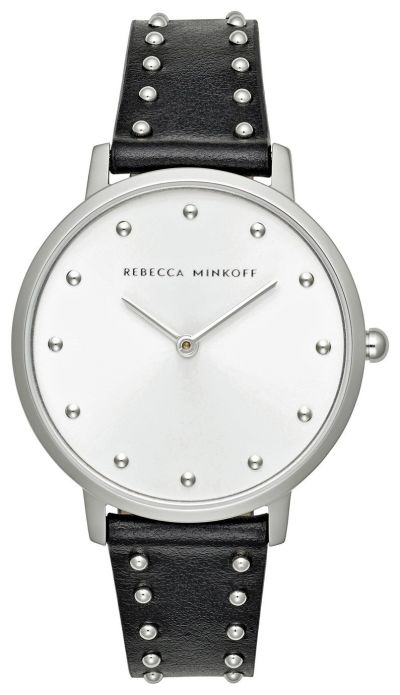 Rebecca Minkoff Ladies Black Leather Strap Watch Best Price, Cheapest Prices