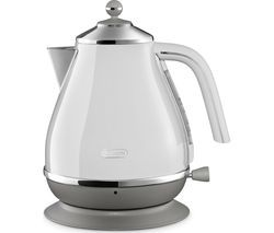 DELONGHI Icona Capitals KBOC3001.W Jug Kettle - White Best Price, Cheapest Prices