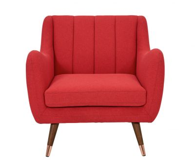 Argos Home Leila Fabric Armchair - Red Best Price, Cheapest Prices