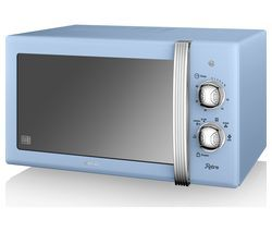 SWAN SM22130BLN Solo Microwave - Blue Best Price, Cheapest Prices