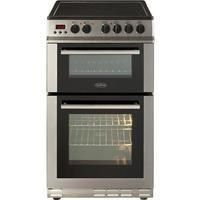 Belling FS50EDOPC Fan Double Oven Electric Cooker With Ceramic Hob Stainless Steel Best Price, Cheapest Prices