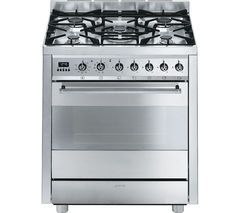 SMEG C7GPX8 70 cm Dual Fuel Range Cooker - Stainless Steel Best Price, Cheapest Prices