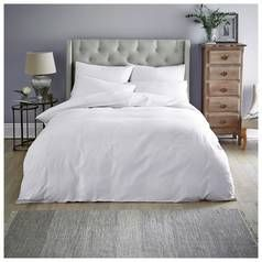 Sainsbury's Home White Sateen Stripe Bedding Set - Superking Best Price, Cheapest Prices