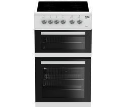 BEKO KDVC563AW 50 cm Electric Ceramic Cooker - White Best Price, Cheapest Prices