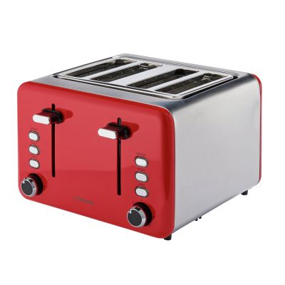 Cookworks 4 Slice Toaster - Red Best Price, Cheapest Prices