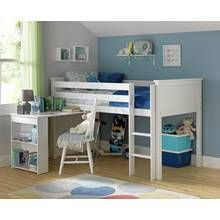 Argos Home Brooklyn White Mid Sleeper Bed Frame with Desk Best Price, Cheapest Prices