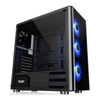 Thermaltake V200 RGB Tempered Glass Mid Tower with 550W 80+ PSU, 3x120mm RGB Fans, USB3.0, ATX Best Price, Cheapest Prices