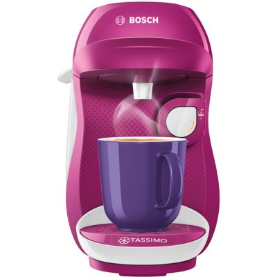 Tassimo by Bosch Happy TAS1001GB Pod Coffee Machine - Purple / White Best Price, Cheapest Prices