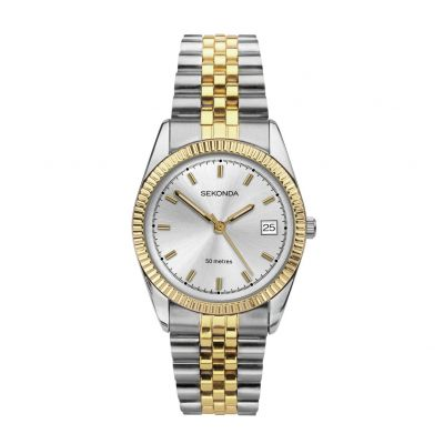 Sekonda Men's Two Tone Gold Plated Bracelet Watch Best Price, Cheapest Prices