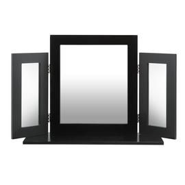 Argos Home Triple Dressing Table Mirror - Black Best Price, Cheapest Prices