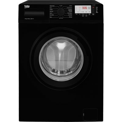 Beko WTG741M1B 7Kg Washing Machine with 1400 rpm - Black - A+++ Rated Best Price, Cheapest Prices