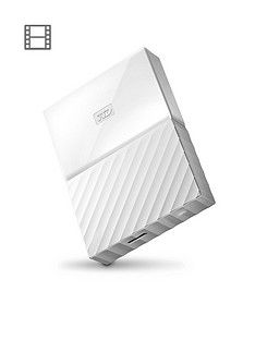 Western Digital My Passport 4TB Portable External Hard Drive - White Best Price, Cheapest Prices
