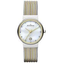 Skagen Ladies' 35SSGS Ancher Mesh Two Colour Strap Watch Best Price, Cheapest Prices