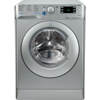 Indesit BWE91484XSUK 9Kg Washing Machine with 1400 rpm - Silver - A+++ Rated Best Price, Cheapest Prices