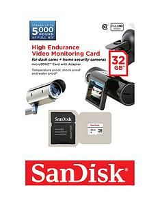 SanDisk High Endurance Video Monitoring 32GB microSDHC Card for Home Security Cameras and Dashcams Best Price, Cheapest Prices