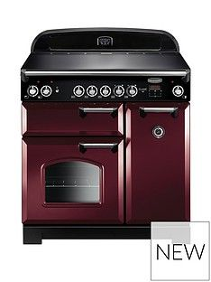 Rangemaster  CLA90ECCY Classic 90cm Wide Electric Range Cooker - Cranberry Best Price, Cheapest Prices