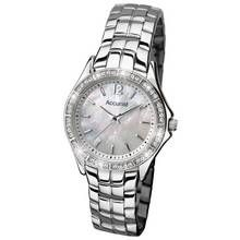 Accurist Ladies' Stone Set Stainless Steel Bracelet Watch Best Price, Cheapest Prices