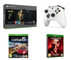 MICROSOFT Xbox One X, Fallout 76, Project Cars 2, Tekken 7 & Wireless Controller Bundle Best Price, Cheapest Prices