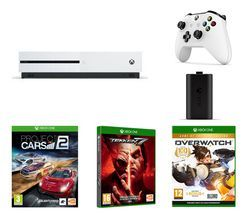 MICROSOFT Xbox One S, Tekken 7, Overwatch, Project Cars 2, Charge Kit & Wireless Controller Bundle Best Price, Cheapest Prices