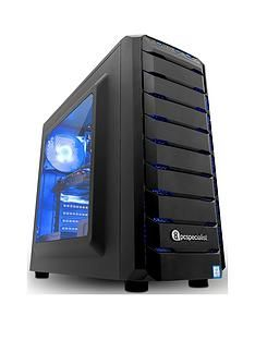 PC Specialist Stalker Contact 2060 Intel Core i7-8700,16GB RAM,256GB SSD / 1TB Hard Drive, Gaming Desktop PC with6GB Nvidia RTX 2060 Graphics- Black Best Price, Cheapest Prices