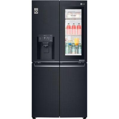 LG InstaView™ Door-in-Door™ GMX844MCKV Wifi Connected American Fridge Freezer - Matte Black - A+ Rated Best Price, Cheapest Prices