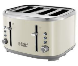 RUSSELL HOBBS Bubble 24411 4-Slice Toaster - Cream Best Price, Cheapest Prices