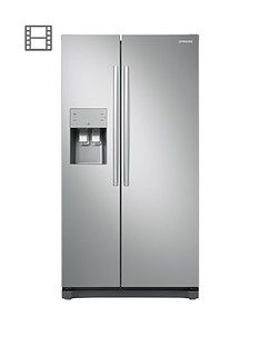 Samsung Rs50N3513Sa/Eu American Style Frost Free Fridge Freezer With Plumbed Water, Ice Dispenser - Graphite Best Price, Cheapest Prices
