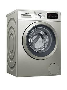 Bosch Serie 6 WAT2840SGB 9kg Load, 1400 Spin Washing Machine  with VarioPerfect - Silver Inox Best Price, Cheapest Prices